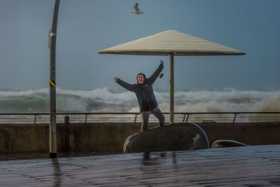 Lior in the rain