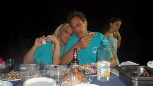 BBQ on the beach in Eilat