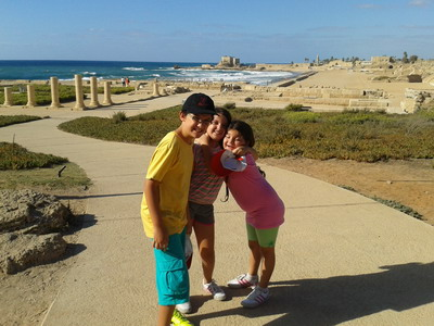 The Eilat grandchildren visit Netanya