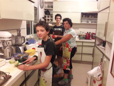 grandsons cooking