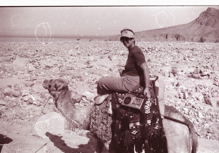 on a camel in Sinai