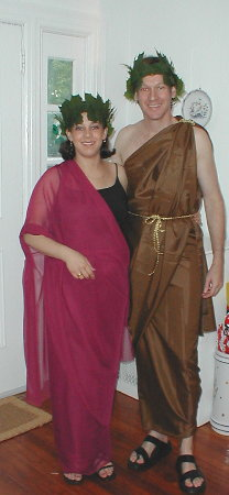 Vered and Aviv in Togas