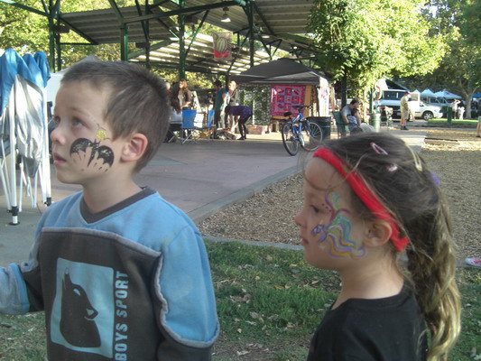 face painting at the Farmers' Market