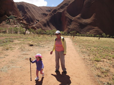 April 2014 The Red Centre of Australia with Saba Eitan and Granny Doreen